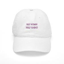 Half Woman Half Rhino Baseball Cap