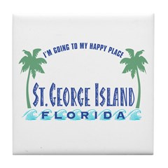 St. George Happy Place - Tile Coaster