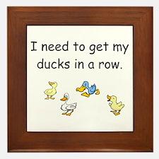 Ducks In A Row Framed Tile