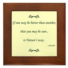 'If one way be better', Framed Tile
