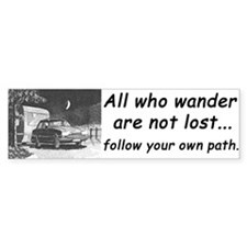 'All who wander', Bumper Bumper Sticker