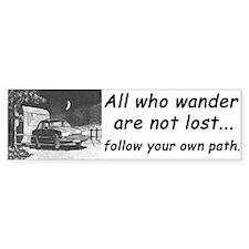'All who wander', Bumper Car Sticker