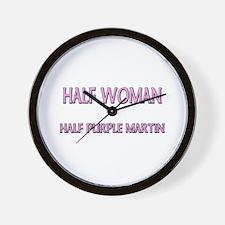 Half Woman Half Purple Martin Wall Clock