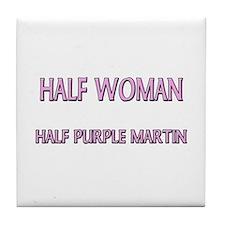Half Woman Half Purple Martin Tile Coaster