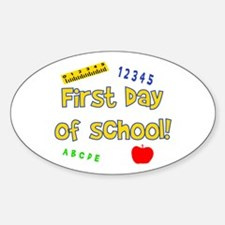 First Day of School Oval Decal