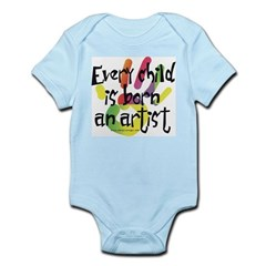 Every Child is Born an Artist Infant Bodysuit