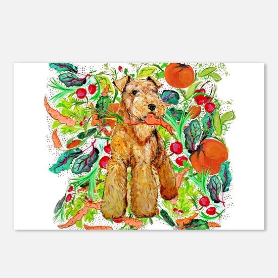 Airedale Terriers go green Postcards (Package of 8