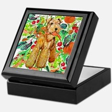 Airedale Terriers go green Keepsake Box