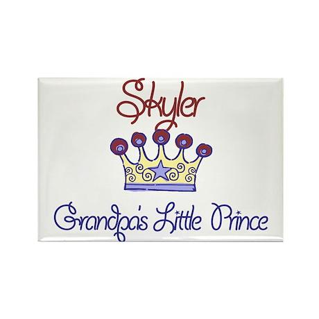 Skyler - Grandpa's Prince Rectangle Magnet