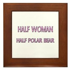 Half Woman Half Polar Bear Framed Tile