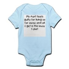 Aunt far away Infant Bodysuit