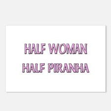 Half Woman Half Piranha Postcards (Package of 8)