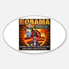 Obama on oil and gas Oval Decal