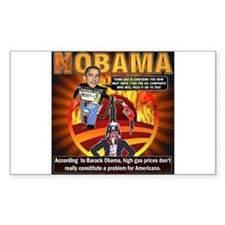 Obama on oil and gas Rectangle Decal