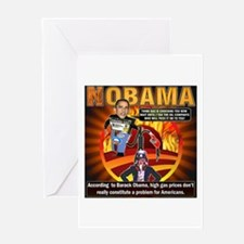 Obama on oil and gas Greeting Card