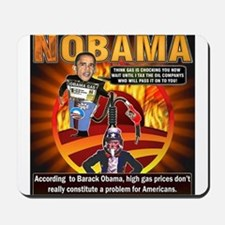 Obama on oil and gas Mousepad