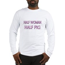 Half Woman Half Pilot Whale Long Sleeve T-Shirt