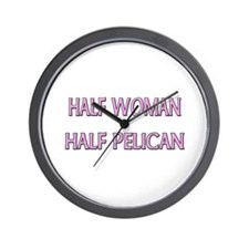 Half Woman Half Pelican Wall Clock