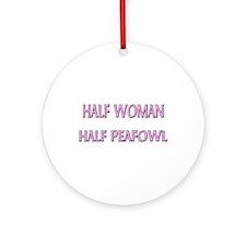 Half Woman Half Peafowl Ornament (Round)