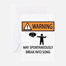 Spontaneous Singer Greeting Cards (Pk of 10)