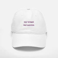 Half Woman Half Narwhal Baseball Baseball Cap