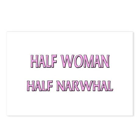 Half Woman Half Narwhal Postcards (Package of 8)