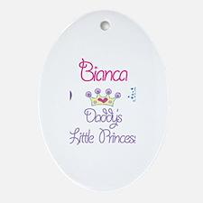 Bianca - Daddy's Princess Oval Ornament