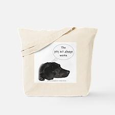 Pity Act- Black Lab Tote Bag