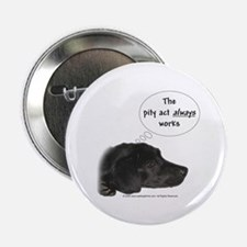 """Pity Act- Black Lab 2.25"""" Button (10 pack)"""
