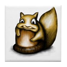 Squirrel With Acorn Tile Coaster