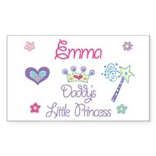Emma - Daddy's Princess Rectangle Decal