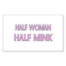 Half Woman Half Mink Rectangle Decal