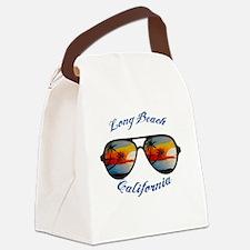 Unique Long beach california Canvas Lunch Bag
