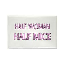 Half Woman Half Mice Rectangle Magnet
