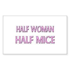 Half Woman Half Mice Rectangle Decal