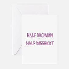 Half Woman Half Meerkat Greeting Cards (Pk of 10)