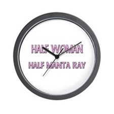 Half Woman Half Manta Ray Wall Clock