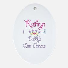 Kathryn - Daddy's Princess Oval Ornament