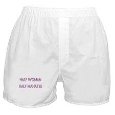 Half Woman Half Manatee Boxer Shorts