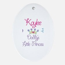 Kaylee - Daddy's Princess Oval Ornament