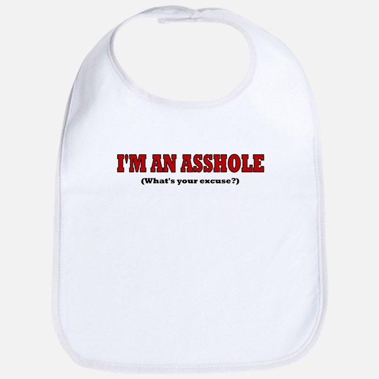 I'M AN ASSHOLE WHAT'S YOUR EX Bib