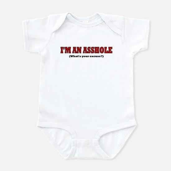 I'M AN ASSHOLE WHAT'S YOUR EX Infant Bodysuit