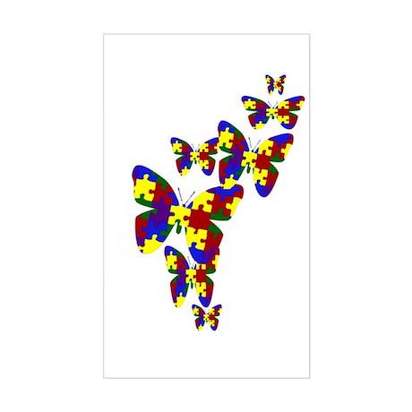 Burst of butterflies Rectangle Sticker