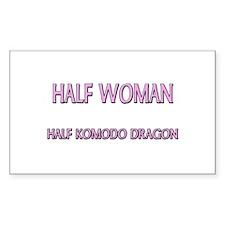Half Woman Half Komodo Dragon Rectangle Decal