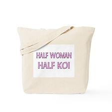 Half Woman Half Koi Tote Bag