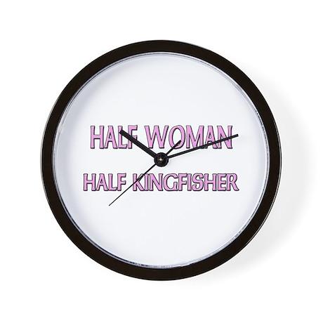 Half Woman Half Kingfisher Wall Clock