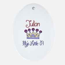 Julian - Daddy's Prince Oval Ornament