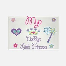 Mya - Daddy's Princess Rectangle Magnet