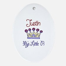 Justin - Daddy's Prince Oval Ornament
