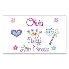 Olivia - Daddy's Princess Rectangle Decal